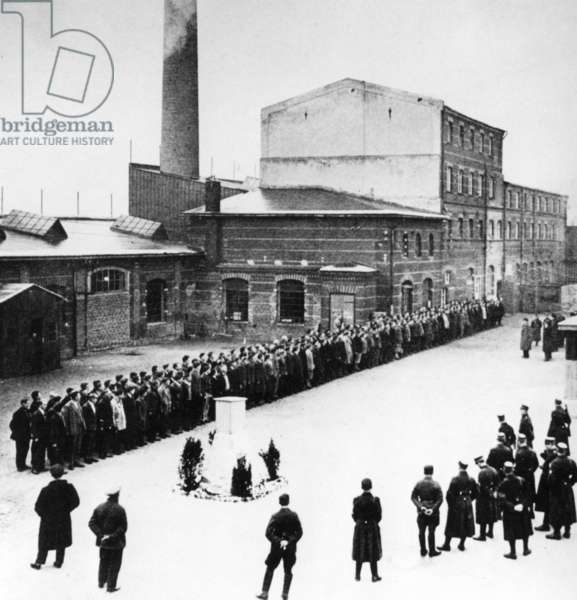 Concentration camp Oranienburg, 1933 (b/w photo)