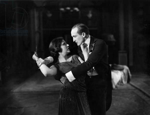 Hans Albers and Marcella Albani in the film Guillotine, 1924 (b/w photo)