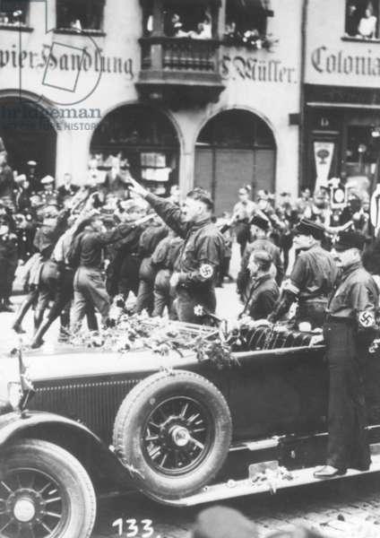 Hitler and Hess at the Nuremberg Rally, 1927