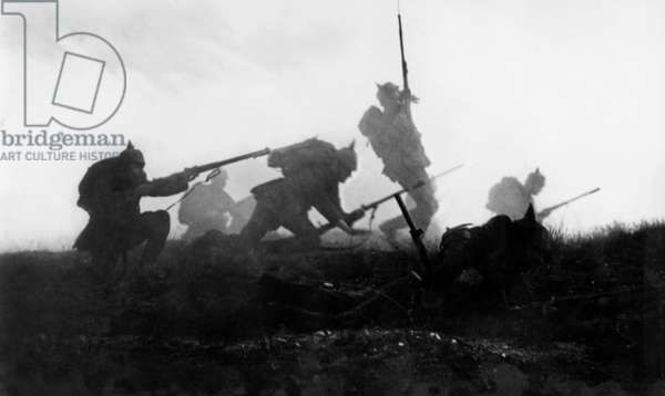 The Battle of Marne During World War I, 1914 (b/w photo)
