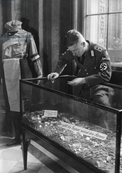 NSDAP exhibition in the Berlin town hall, 1933 (b/w photo)