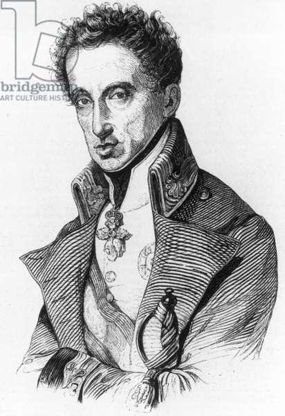 Archduke Karl of Austria (1771-1847) (b/w photo)