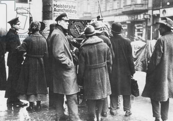 Astrologer in the Friedrichstrasse in Berlin, 1923