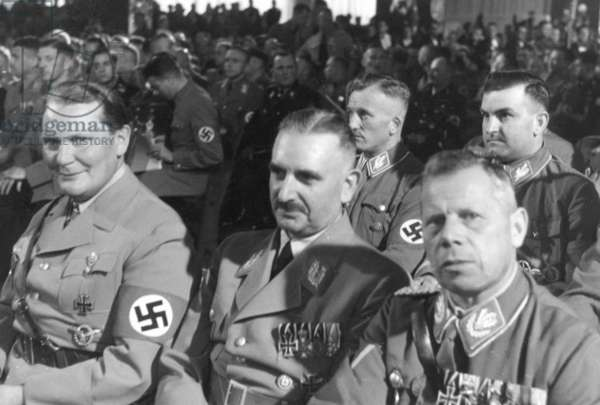 Nazi officials at the opening of the party congress in the Luitpoldhalle, 1936