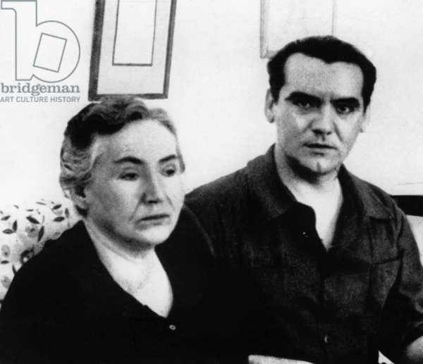 Federico Garcia Lorca and his mother