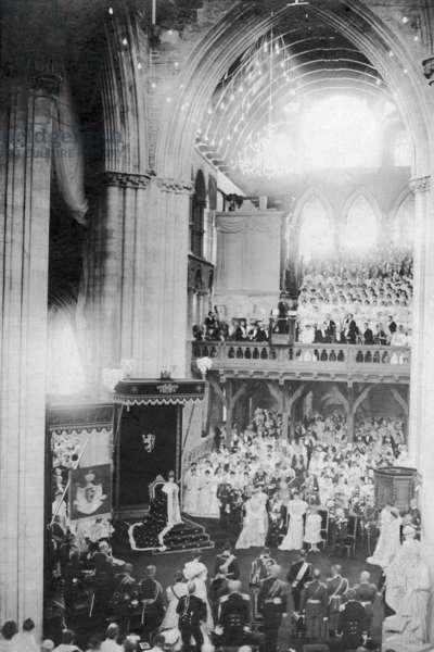 Coronation of Haakon VII, King of Norway, 1906 (b/w photo)