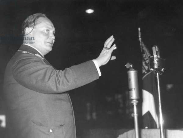 German Nazi politician Hermann Göring, 1935 (b/w photo)