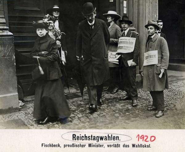 Reichstag elections on the 6th of June, 1920