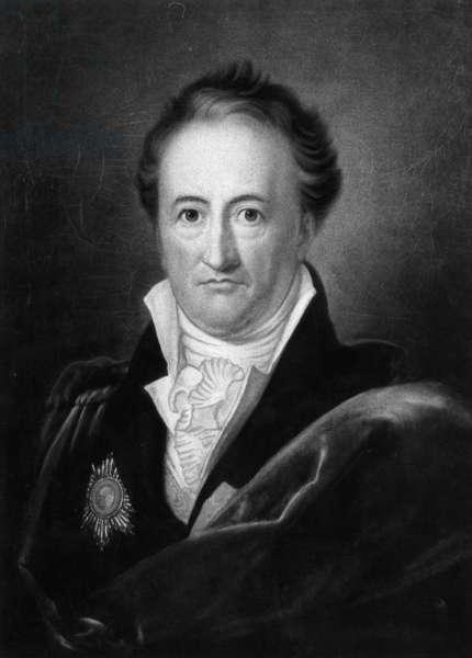 Portrait of Johann Wolfgang von Goethe, 1810 (b/w photo)