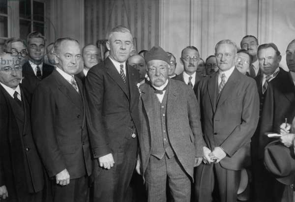 Clemenceau, Pershing and Staford, 1927 (b/w photo)