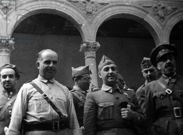 Mendez, Francisco Franco and Jose Moscardo, 1936