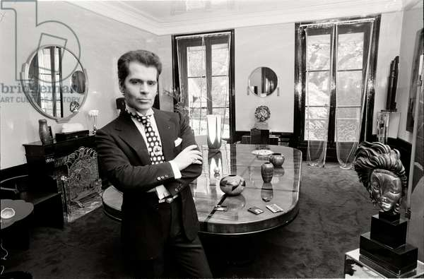 Karl Lagerfeld in his apartment in Paris, 1972