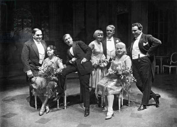 Actors and singers of the Richard Strauss celebrations at the city Opera, Berlin, 1926 (b/w photo)