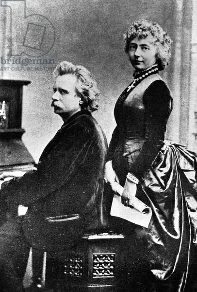 Edvard Grieg (b/w photo)