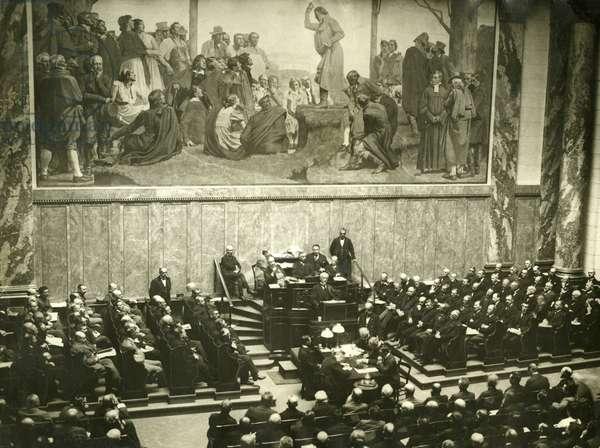 Minister President Scheidemann is against the Versailles Treaty, 1919