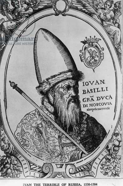 Tsar Ivan the Terrible, 1530-1584 (b/w photo)