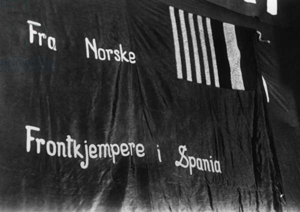 Banner of Norwegian Fighters of the Spanish Civil War, Spain 1936-39
