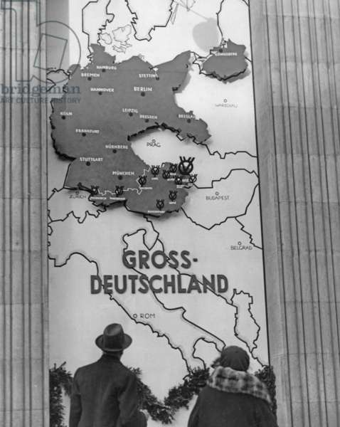 Map of the Greater German Reich in Vienna, 1938