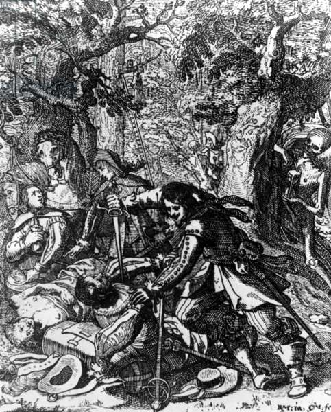 Illustration of Germany during the Thirty Years' War, 1618-1648