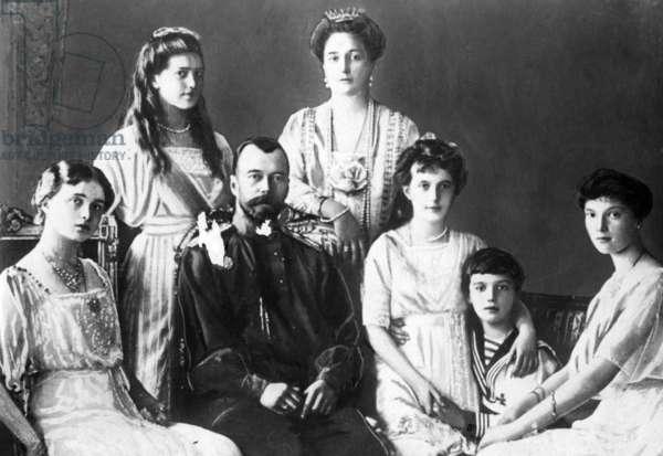 Family photo of the Romanovs, ca. 1913