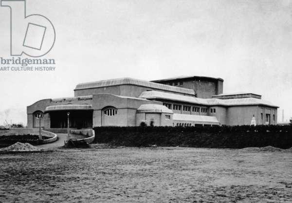 Festspielhaus designed by Henry van de Velde, 1914 (b/w photo)