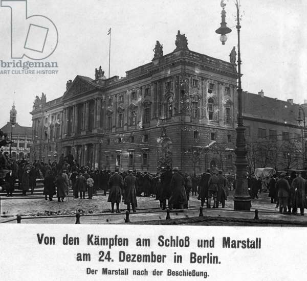 The Imperial Marstall in Berlin, 1918