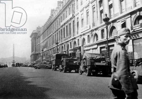 The Rue Royale in Paris, 1940 (b/w photo)