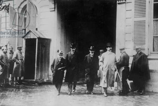German delegation in Versailles, 1919 (b/w photo)