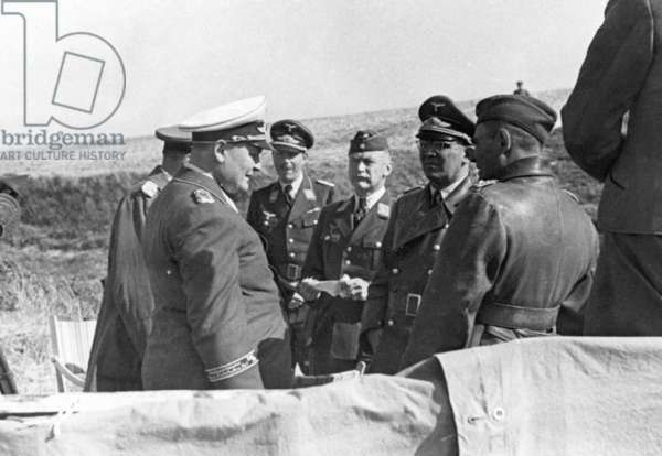 Hermann Göring and officers of the Luftwaffe, 1940 (b/w photo)