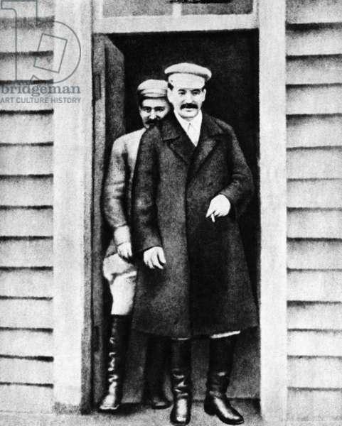 Joseph W. Stalin with Anastas Mikoyan in Tbilisi,1926 (b/w photo)