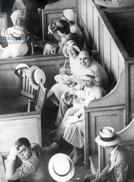 Al Capone on the racecourse (b/w photo)