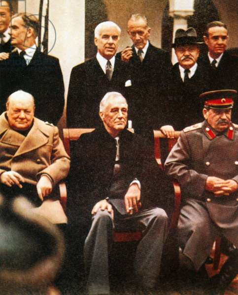 The Yalta Conference: Winston Churchill, Franklin D. Roosevelt and Joseph Stalin, 1945