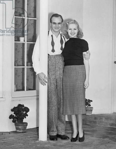 Jackie Coogan and Betty Grable, 1937 (b/w photo)