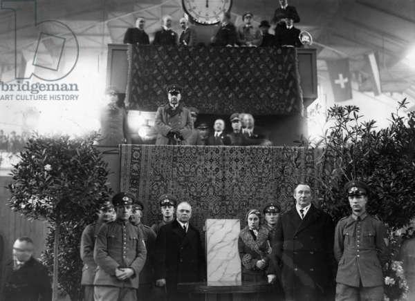 Paul von Hindenburg in Berlin, 1933 (b/w photo)