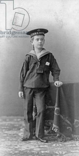 Prince Friedrich Christian of Saxony, 1903 (b/w photo)