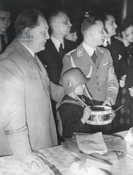 Hermann Göring at Christmas, 1937 (b/w photo)