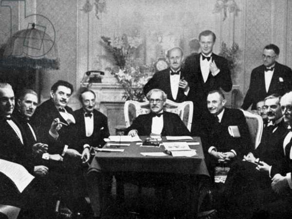 The Lausanne Conference, 1932 (b/w photo)