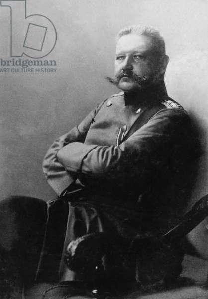 Paul von Hindenburg, 1905 (b/w photo)