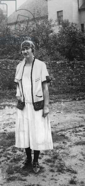 Czech woman in Sokol uniform, 1929