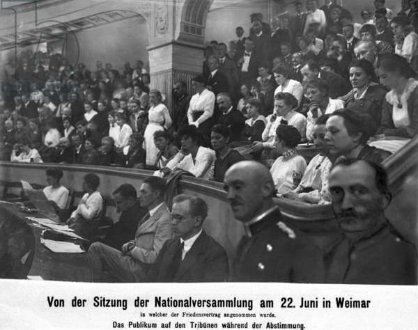 Adoption of the peace treaty by the National Assembly, 1919