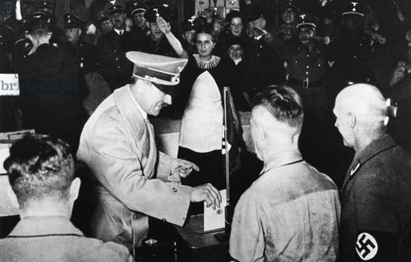 Adolf Hitler voting, 1938