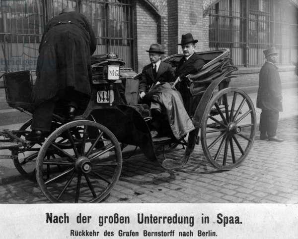 Albrecht Graf von Bernstorff and Count Urlich von Brockdorff-Rantzau, 1918