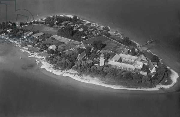 The Abbey of Frauenchiemsee (b/w photo)