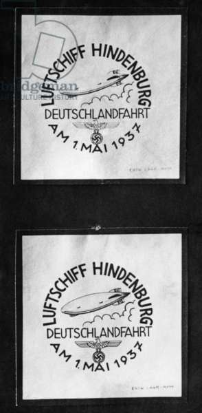 Special postmark for the mailing by the airship Hindenburg on the 1st of May, 1937
