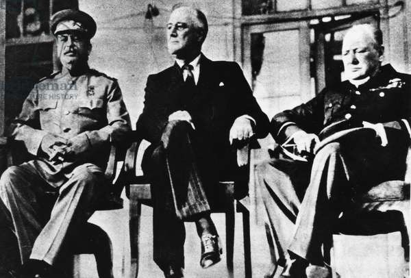 Tehran Conference, 1943 (b/w photo)