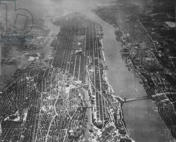 Aerial photo of New York, 1931 (b/w photo)