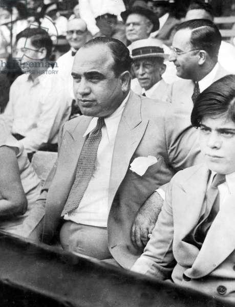 Al Capone with Son, 1931 (b/w photo)