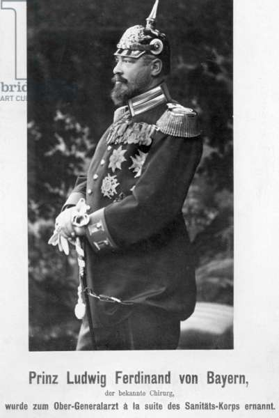 Dr. Prince Ludwig-Ferdinand of Bavaria at his appointment as chief general physician a la suite of the Medical Corps, 1915