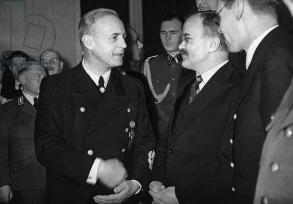 Joachim von Ribbentrop and Vyacheslav Molotov, 1940 (b/w photo)