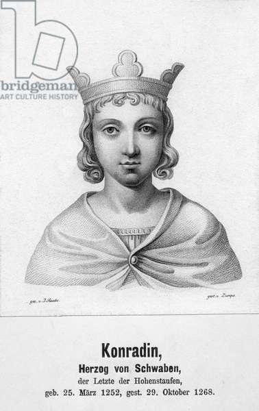 Konradin von Schwaben, Holy Roman Emperor (engraving)